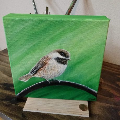 Art by Kirsten Sneath Chickadee Painting