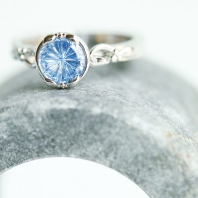 Cornflower Blue Montana Sapphire Ring Castellano Fine Jewelry