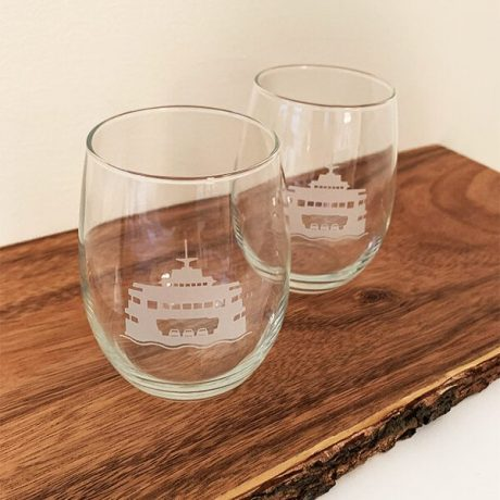 Jen Colburn Design Ferry Wine Glass