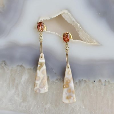Karin Luvaas - Sunstone Earrings