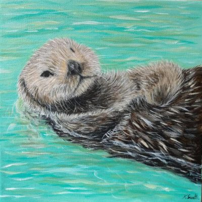 Kirsten Sneath Sea Otter Painting
