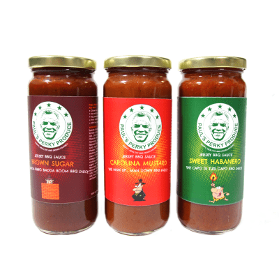 Paul's Perky Produce BBQ Sauces
