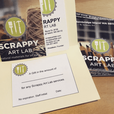 Scrappy Art Lab Gift Certificate