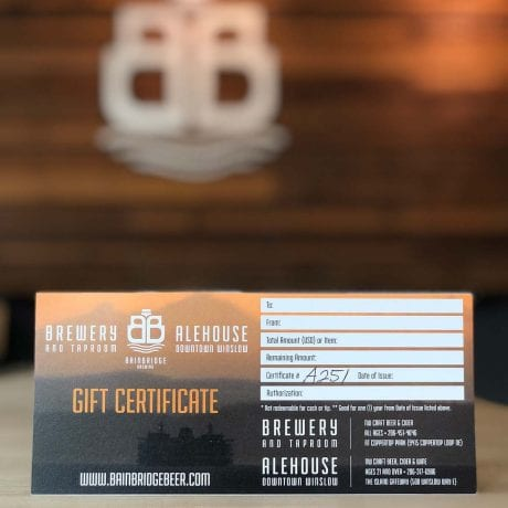 Bainbridge Brewing- Gift Certificate