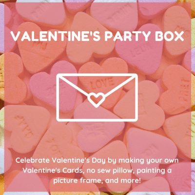Kids Discovery Museum Valentine's Day Party Box