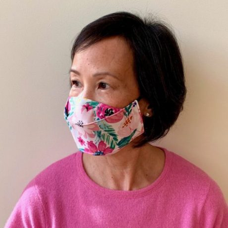 Plum Origami Style Face Mask