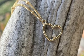 Simplicity Gems Diamond Heart Necklace