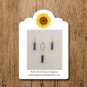 Happiness Shop Blue Sodalite and Sterling Silver Gift Set