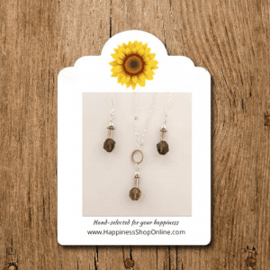 Happiness Shop Smokey Topaz and Sterling Silver Gift Set